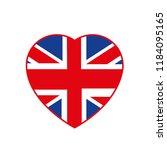 britain love vectoy  flag... | Shutterstock .eps vector #1184095165