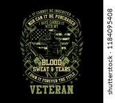 illustration idea for veteran... | Shutterstock .eps vector #1184095408