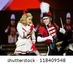 Small photo of CLEVELAND - NOVEMBER 10: Madonna (born Madonna Louise Ciccone) performs at the Quicken Loans Arena in Cleveland, Ohio on November 10, 2012.