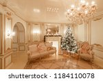 classical interior of a white... | Shutterstock . vector #1184110078