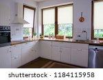 interior of white modern kitchen | Shutterstock . vector #1184115958