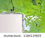 Old shabby green surface with...