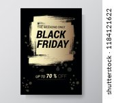 black friday sale abstract...   Shutterstock .eps vector #1184121622