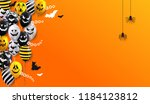 halloween banner with ghost... | Shutterstock .eps vector #1184123812