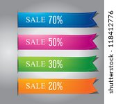 colorful ribbon banner design...   Shutterstock .eps vector #118412776