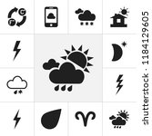set of 12 editable air icons.... | Shutterstock .eps vector #1184129605