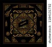premium collection of golden... | Shutterstock .eps vector #1184131732