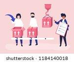 character illustration of... | Shutterstock .eps vector #1184140018