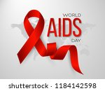 world aids day concept.... | Shutterstock .eps vector #1184142598