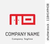 interior logo design studio ... | Shutterstock .eps vector #1184149438
