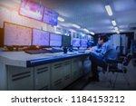blurred of man engineer works... | Shutterstock . vector #1184153212