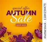 Autumn Sale Banner  3d Paper...