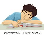 illustration of a teenage guy... | Shutterstock .eps vector #1184158252