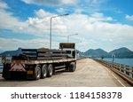 steel slab plate carry lashing... | Shutterstock . vector #1184158378