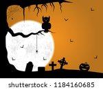 halloween background... | Shutterstock . vector #1184160685