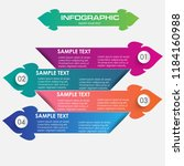 infographic template with four... | Shutterstock .eps vector #1184160988