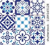 lisbon tiles design  azulejo... | Shutterstock .eps vector #1184165128
