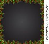 christmas background with fir... | Shutterstock .eps vector #1184169208