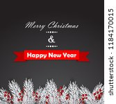 christmas background with fir... | Shutterstock .eps vector #1184170015