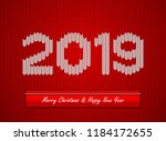 christmas knitted background | Shutterstock .eps vector #1184172655