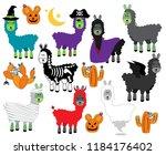 vector collection of halloween... | Shutterstock .eps vector #1184176402