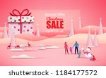 merry christmas and happy new...   Shutterstock .eps vector #1184177572