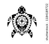 maori   polynesian turtle... | Shutterstock .eps vector #1184189722
