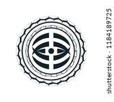 maori   polynesian tattoo style ... | Shutterstock .eps vector #1184189725