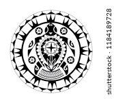 maori   polynesian turtle... | Shutterstock .eps vector #1184189728