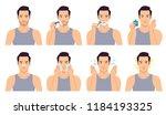 the handsome man shaved ... | Shutterstock .eps vector #1184193325