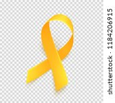 realistic gold ribbon over... | Shutterstock .eps vector #1184206915