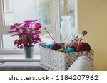 set for knitting in a box | Shutterstock . vector #1184207962