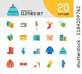 clothes icon set. sweater ... | Shutterstock .eps vector #1184209762