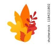 autumn leaves composition.... | Shutterstock .eps vector #1184211802