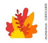 autumn leaves composition.... | Shutterstock .eps vector #1184211805