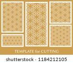 decorative panels set for laser ... | Shutterstock .eps vector #1184212105