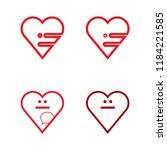 talk love logo  strong  clear ... | Shutterstock .eps vector #1184221585