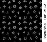 stars  seamless pattern on dark ... | Shutterstock .eps vector #1184221765