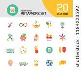 metaphors vector icon set.... | Shutterstock .eps vector #1184223592