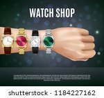 jewelry realistic composition...   Shutterstock .eps vector #1184227162