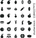solid black flat icon set beet... | Shutterstock .eps vector #1184227972