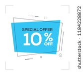 special offer 10  off concept | Shutterstock .eps vector #1184228872
