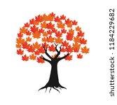 maple tree logo icon design... | Shutterstock .eps vector #1184229682