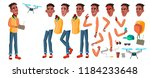 teen boy vector. animation... | Shutterstock .eps vector #1184233648