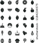 solid black flat icon set cake... | Shutterstock .eps vector #1184234575