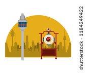 asian gong instrument | Shutterstock .eps vector #1184249422