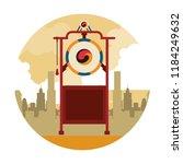 asian gong instrument | Shutterstock .eps vector #1184249632