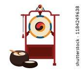 asian gong instrument | Shutterstock .eps vector #1184249638