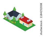 house residences isometric   Shutterstock .eps vector #1184252038