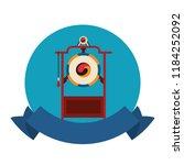 asian gong instrument | Shutterstock .eps vector #1184252092